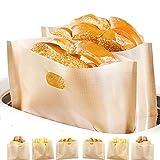 Non-Stick Wiederverwendbare Toastabags LFGB Zertifizierung Sandwich-Bag Waschbar 6 Stück Teflon Toaster...