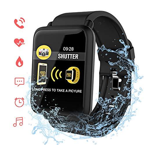 ACCEWIT Smart Watch IP67 impermeabile orologio da 1,3 pollici TFT full color IPS display chiamata e informazioni promemoriatime displaycontrollo musicamodalità non disturbareinformazioni-Nero
