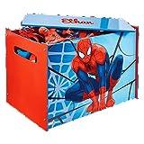 Coffre à jouets Spiderman à personnaliser avec un prénom et une illustration