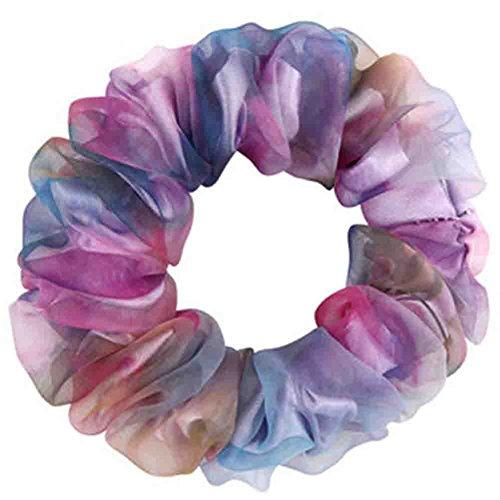2 pièce soie bandeaux / accessoires pour cheveux, violet(petite taille)