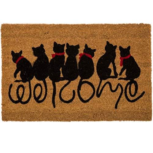 Felpudo Original Welcome Cats Diseño Gatos