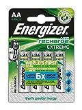 Energizer AA-HR6 Extreme Batteria Ricaricabile, AA, 2300 mAh, Argento, (4 Pezzi)