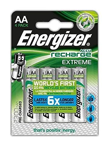 Energizer AA-HR6- NiMH Akkumulator Extreme, AA / Mignon / 2300 mAh, vorgeladen 4er (Batterie Aa Ricaricabili)