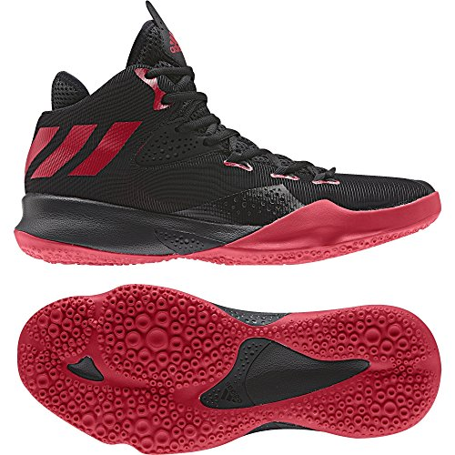 adidas Dual Threat 2017, Espadrilles de Basket-Ball Homme Rouge (Escarl / Negbas / Ftwbla)