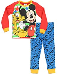 Disney Mickey Mouse - Ensemble de Pyjama - Garcon - Mickey Mouse & Pluto
