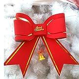 Cosanter Weihnachtsbaum Oberen Dekoration - Rot Glitter Groß Bow Schleife Baum Deckel 53*51CM(21*20inch)