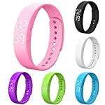 Activity Tracker Heart Rate Monitor Pedometer Sleep Monitor Smart Bracelet Waterproof Screen Display With Message Reminder For Girls Women Man