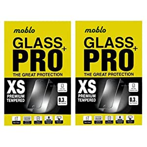 Moblo (Pack of 2) Tempered Glass for Lava X1