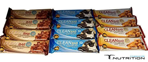 Bar Double Chocolate Cookie (ALL STARS Clean Bar 12 x 60g MIXBOX (Cookie&Cream | Double Chocolate | Cookie Dough))
