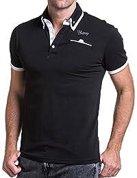 BLZ jeans - Polo homme classique noir et blanc