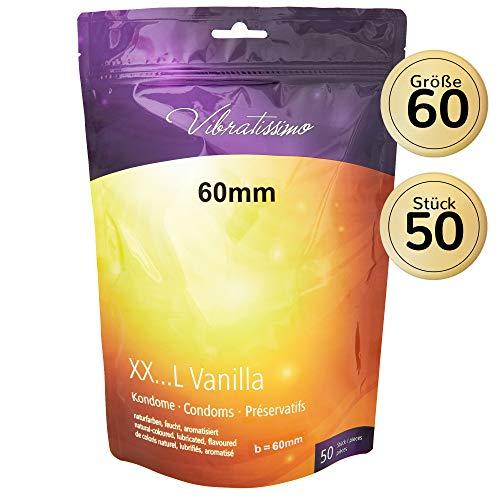 """AMOR Vibratissimo""""Meine Größe 60mm"""", 50er Pack Kondome mit Vanillearoma, gefühlsecht und maßgeschneidert"""