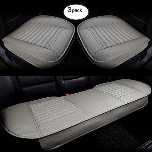 SENSUIT Car Seat Cover beige cuoio dellunit/à di elaborazione Traspirante Confortevole Seggiolino auto antiscivolo cuscino per quattro stagioni universale