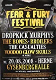 Fear And Fury Festival - Herne 2008 Konzert-Poster A1