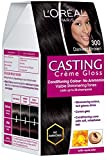 #4: L'Oreal Paris Casting Creme Gloss, Darkest Brown 300, 87.5g+72ml