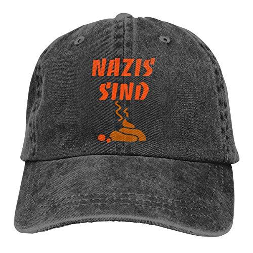 XCOZU Baseball Cap Herren-Nazis Sind Scheiße Kappe Für Herren Und...