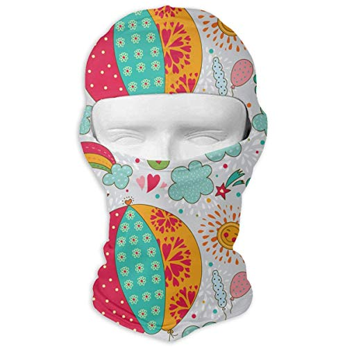 Cheerful Rabbits Are Flying in A Hot Air Balloon Windproof Dust Protection Balaclava Full Face Mask Hood Headcover - Headcover Turban