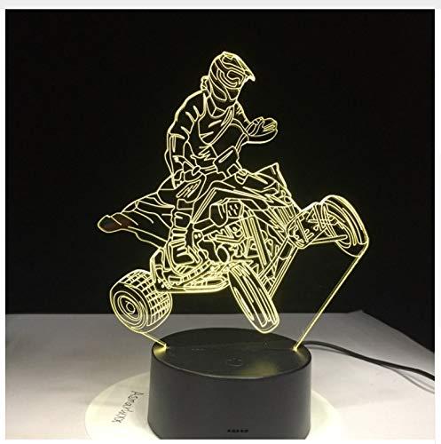 Vier Räder Berg Auto Motor Racing Sport 3D Lampen 7 Farbe USB Nacht Lampe LED Lichter für Kinder Geburtstag Motocross Fahrt Geschenk
