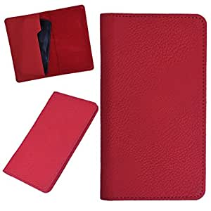DCR Pu Leather case cover for Lenovo A600e (RED)