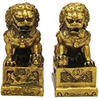 Feng Shui Fu perro Estatua libre 4 Divine de incienso Cono