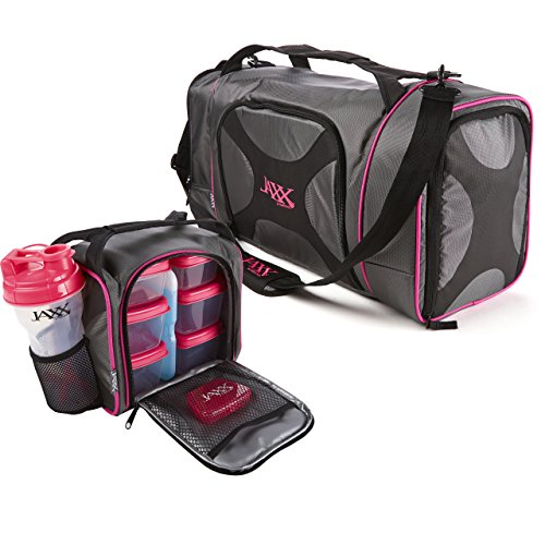 fit-fresh-dual-jaxx-fitpak-duffel-with-portion-control-container-set-reusable-ice-pack-and-shaker-cu