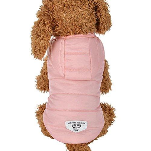 is Hundemantel Hundejacke Hundepullover Warm Winter Weste Mantel Hund Kostüme Haustier Kleidung (S, Pink) (Großer Hund Weihnachten Kostüme)