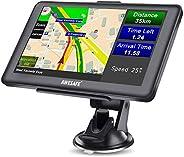 AWESAFE GPS Navi Navigation für Auto LKW PKW KFZ Navigationsgerät 7 Zoll Lebenslang Kostenloses Kartenupdate 2020 Europa Kar