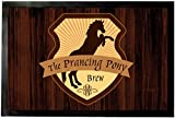 1art1 93254 Restaurants - Zum Tänzelnden Pony Fußmatte Türmatte 60 x 40 cm