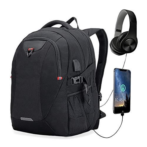 Rucksack Laptop Herren Backpack Grosse Kapazität Großer Daypack Wasserdicht Multifunktion mit USB Ladeanschluss Schulrucksack Tagesrucksack 20 * 13 * 9.8 Zoll