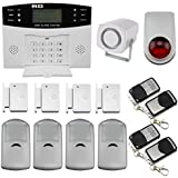 Discoball® Intruder Alarm System GSM Auto Dial Home Security System Burglar Alarm Kit Call Home House Intruder Alarm Siren PIR Motion