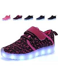 4bf90fb51 nishiguang Kids Boys Girls LED Light up Shoes USB Charging Flashing  Sneakers Trainers