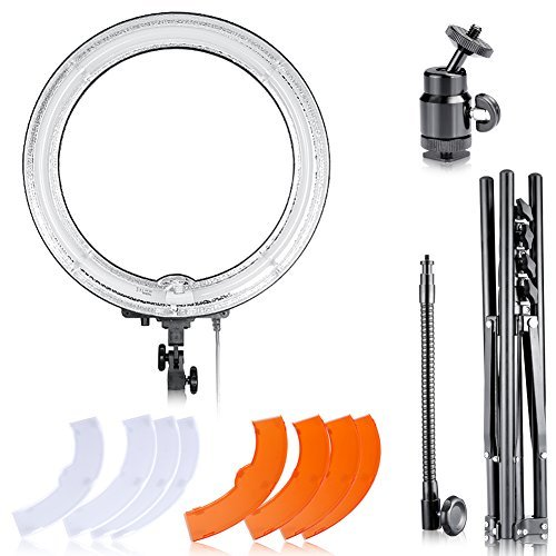 Neewer-Dimmable-18-Diameter-75W-600W-equivalent-Camera-Photo-Studio-5500K-Ring-Fluorescent-Flash-Light-Lighting-Kit-for-Portrait-Fashion-Photography-and-Youtube-Vine-Self-Portrait-Video-Shooting