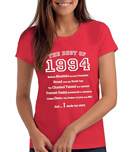 Da Londra Damen - The Best of 1994 - T-Shirt als Geschenk zum 25. Geburtstag: Re, S
