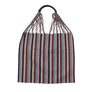 Einkaufstasche Boho Tenango 'grau'; Handgewebt, Handtasche, HANDARBEIT, Tasche, Geschenkidee für Frauen