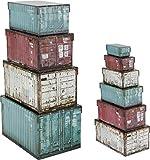 Paper Collection Lote DE 10 Cajas de Regalo de Almacenaje Organizacion Hogar Decorativas 'Container Design' Cajas de Contenedores Rectangulares
