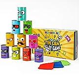 Juego Tumba las Latas - Incluye 10 latas decoradas y 3 bolsas de...