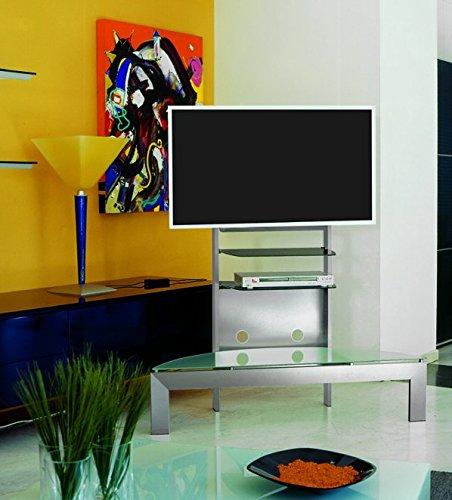 mobile porta tv mod. Grandangolo 130 realizzato in alluminio satinato