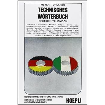 Dizionario Tecnico Italiano-Tedesco E Tedesco-Italiano