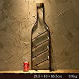 Racks Y botelleros de Vino Vino Industriales Vintage Red Wine Pared Colgante Inicio Restaurante Wine Rack Loft Creative Bar Decoraciones de Pared botelleros para Vino (Color : Brass)