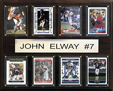 NFL Denver Broncos John Elway Eight Card Plaque