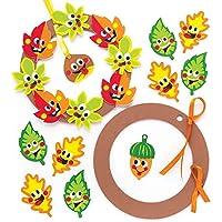 Baker Ross Kit de couronnes Amis de l'automne (Paquet de 2) - Loisirs Créatifs et Décorations pour Enfants
