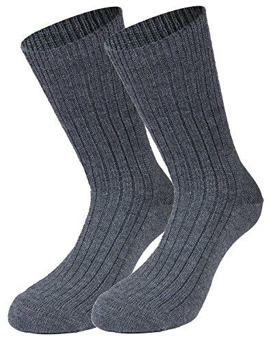 Tobeni 1 Paire de Chaussettes Militaires Travaillent Laine courte Couleur Gris Taille 44-45