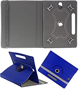 DMP 360 Degree Rotating Book Case For Nxi Fabfone Smart 3g Cover With Stand Dark Blue