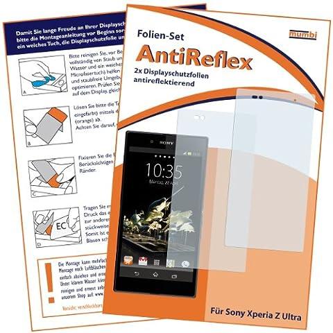 2x mumbi Displayschutzfolie für Sony Xperia Z Ultra Schutzfolie AntiReflex matt