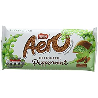 Aero Peppermint Chocolate Sharing Bar, 100 g, Pack of 15