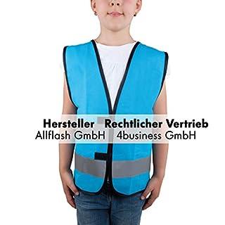 Sicherheitsweste hellblau Größe S für Kinder von 7-12 Jahren