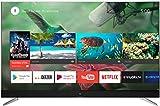 TCL U55C7026 televisore 55 pollici (Smart TV, 4K UHD, HDR Pro, Android TV, Micro Dimming, JBL Sound, Google Voice Search), Titanio