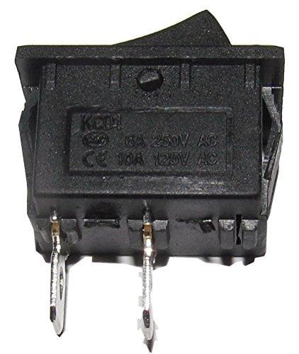 2 Stück x AC 6A / 250V 10A / 125V ON / OFF SPST 2 Pin Snap-in-Boot Rocker Switch 20x14mm - 2 Rocker Wall Plate