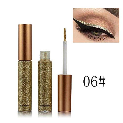 BOBORA Essential Sektion Glitzer und Schimmer Wasserdichte Eyeliner Metallic Pigment Gold Silber...
