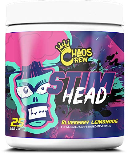 Chaos Crew Stim Head Hardcore PreWorkout Booster Trainingsbooster Bodybuilding 207g (BlueBerry Lemonade)