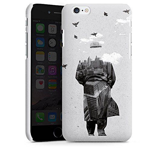 Apple iPhone X Silikon Hülle Case Schutzhülle Silhouette Mann Wolken Premium Case matt